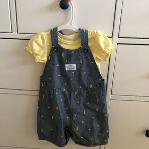 NWOT Just One You girls 9 month overalls outfit